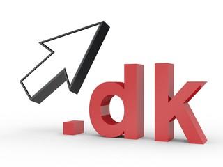 3D Domain dk mit Pfeil