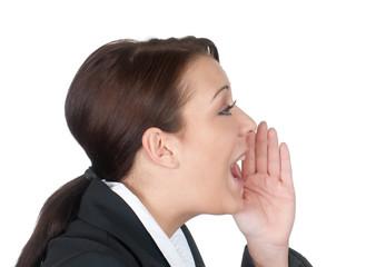geschäftsfrau ruft