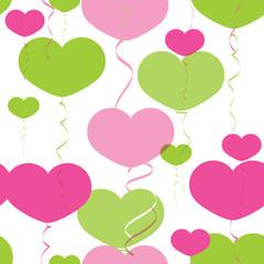 Balloons heart pattern