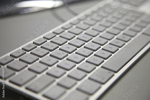 Tastatur von Apple mit weissen Tasten
