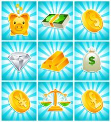 Gold Money Icons