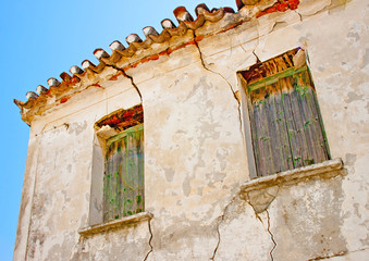 Old abandoned  house  in Skiathos Greece