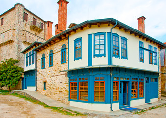 Old house in Karies the Capital of Athos Comunity in Greece