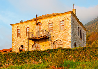 Old house out of Great Lavra's monastery on Athos in Greece