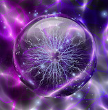 Fototapety Electric enclosed in sphere