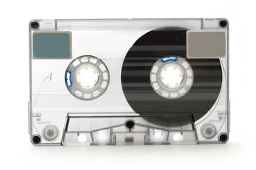 Old fashioned cassette for tape recorder