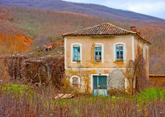 Very old house in village Mavrokampos near Kastoria in Greece