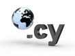 3D Domain cy mit Weltkugel