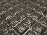 Alligator skin with stitched rectangles