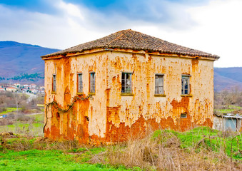 Very old house in village Gavros near Kastoria in Greece
