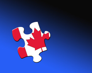Canadian Jigsaw piece