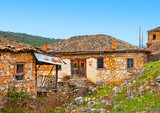 Very old abandoned house near lake Prespa in Northern Greece poster