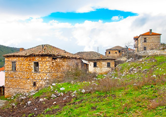 Very old abandoned house near lake Prespa in Northern Greece