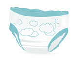 Baby diapers with funny picture on it
