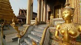 Statue of a legend Kinnaree, Bangkok, Thailand poster