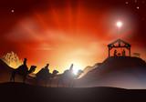 Fototapety Traditional Christmas Nativity Scene
