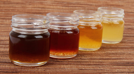 jars full of honey , mix taste