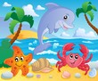 Beach theme scenery 3