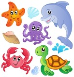 Sea fishes and animals collection 3