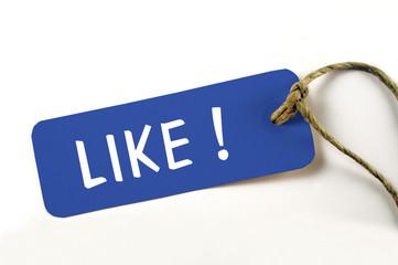 Like ! Anhänger auf weiß isoliert