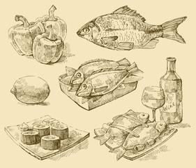 vector seafood