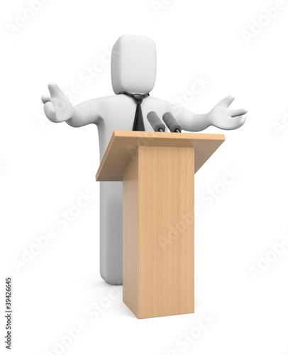 Businessman speaking