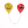 Sad and happy balloons