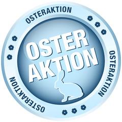 Button Osteraktion Osterhase blau