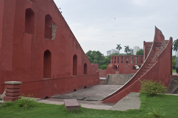 Astronomical instrument in Jantar Mantar, Delhi, India
