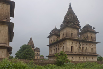 Royal cenotaphs of rulers of Orchha. Madhya Pradesh, India.