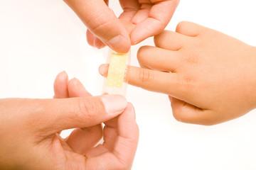 Patch on fingerPatch on fingerPatch on finger