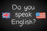 Fototapety Kreidetafel, Do you speak English