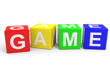 GAME colorful cubes.