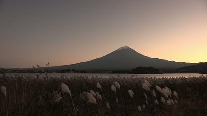 Lake Kawaguchi and Mt. Fuji during autumn,Japan