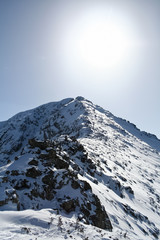 Todorka peak. Winter in snow Pirin Mountain, Bulgaria