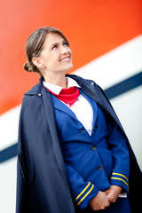 Beautiful flight attendant