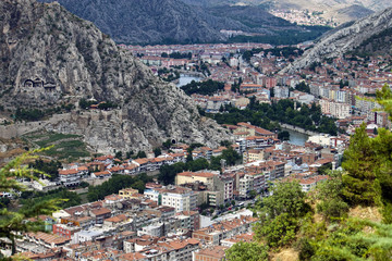 Aerial view of Amasya, Turkey