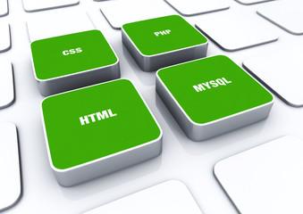 3D Pads Grün - HTML CSS PHP MYSQL 3