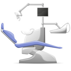 medical dental arm-chair vector illustration
