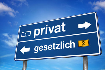 Privat oder gesetzlich