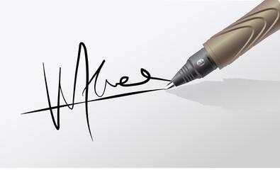 Signer de sa signature
