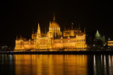 parliament house at night, budapest, hungary