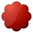 Störer *** rund rot - Blume3