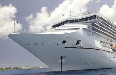 Luxury Cruise Ship in the Caribbean Sea