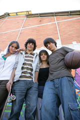 Group of teenagers in the street