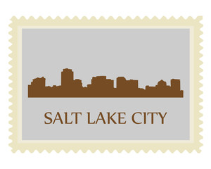 Salt Lake City stamp