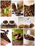 Kawa - kolaż-