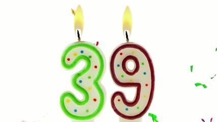 celebration number candles