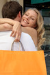 Cuddle with shopping bag