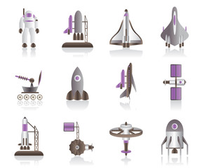 Spacecraft, space shuttles and astronaut